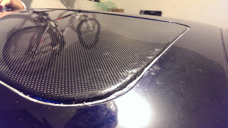 Carbon Fiber Sunroof Delete Panel Installed On E46 M3