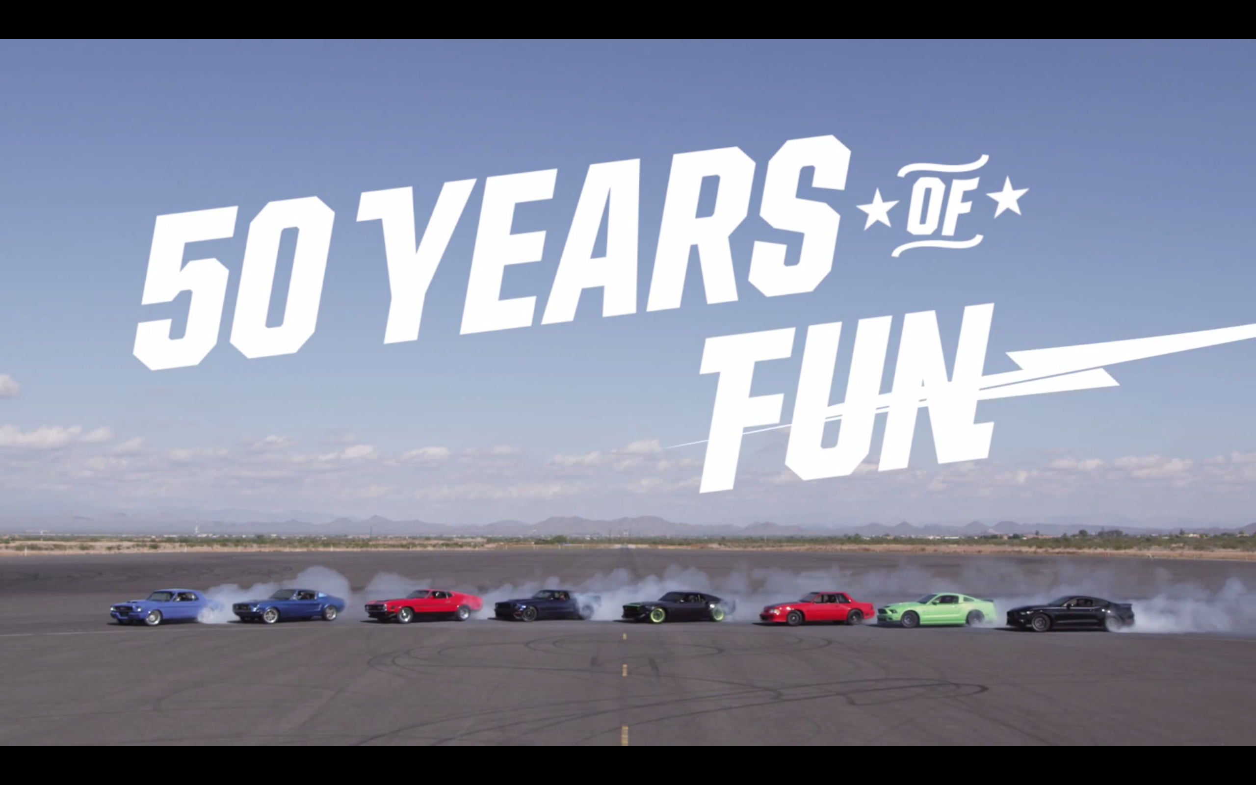 50 Years Of Mustang Right Foot Down
