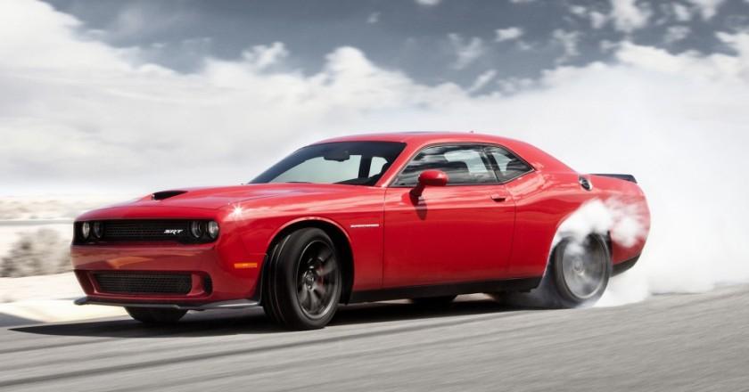 Red Challenger SRT Hellcat Burnout