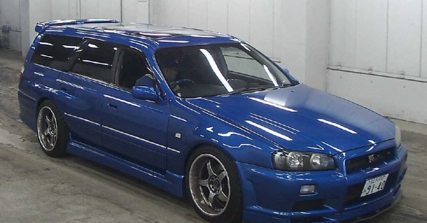 Blue R34 Skyline GTR Wagon
