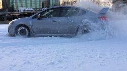 Snow Drifting The 2015 WRX in Slow Motion