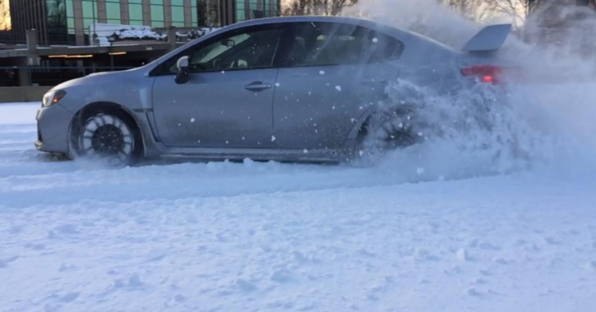 2015 WRX Snow Drift