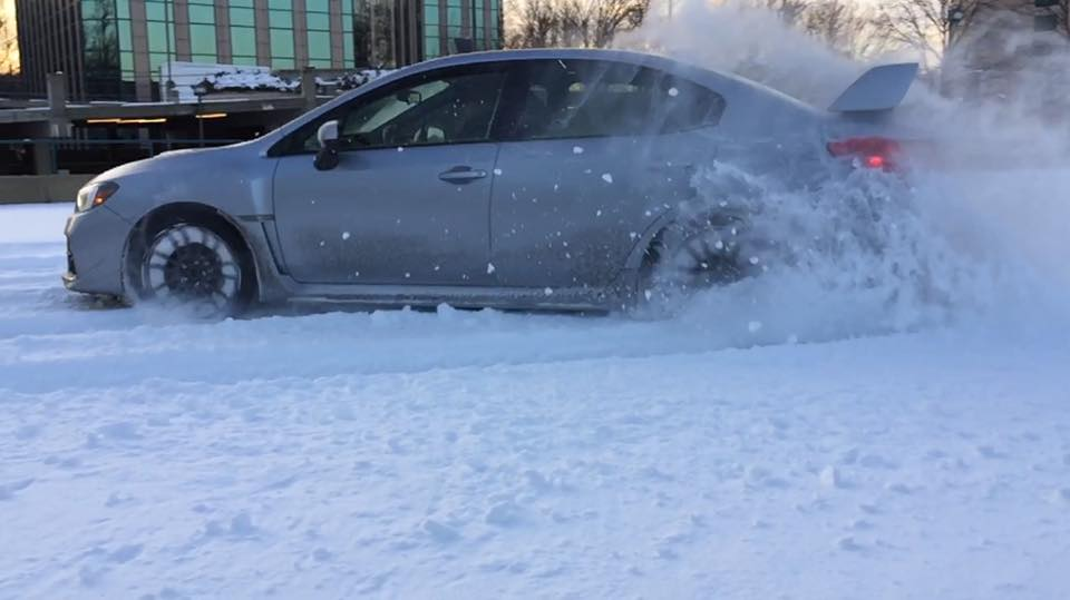 Snow Drifting The 2015 Subaru Wrx In Slow Motion