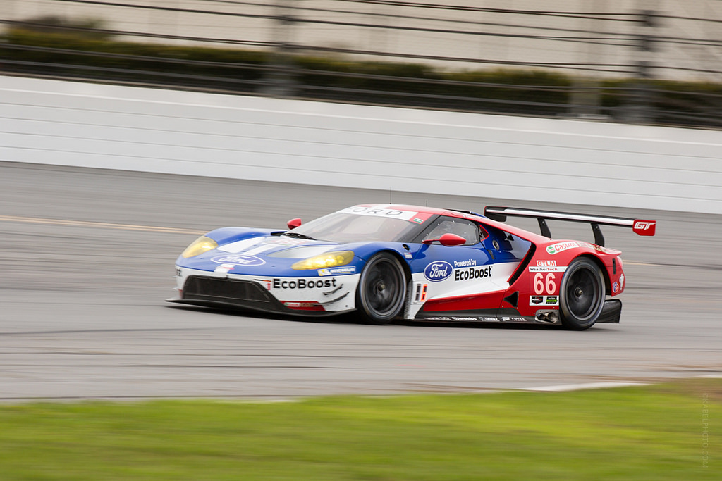 54th 24h Daytona Ford Gtlm Practice Turn 7 Right Foot Down