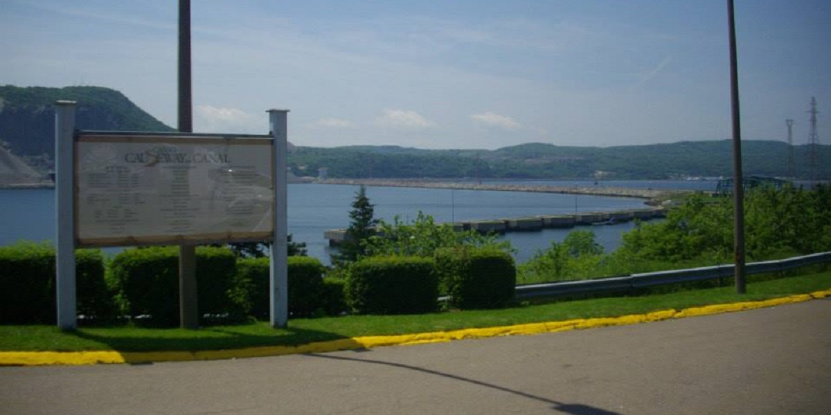 Canso Causeway from Cape Breton Island
