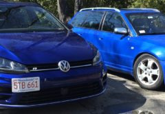 VW Gold R and Audi S4 Avant